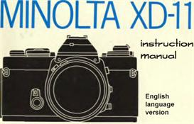 minolta xd11 xd7 xd instruction manual & illustrated user guide