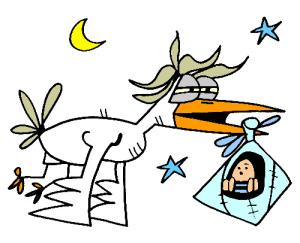 colored stork illustration