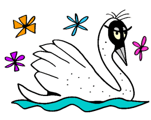 Colored Swan Illustration | Photos and Images | Animals