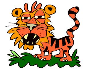 colored tiger illustration