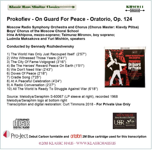 First Additional product image for - Prokofiev - On Guard For Peace - Oratorio, Op. 124