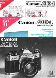 canon ae-1 all available instruction manuals