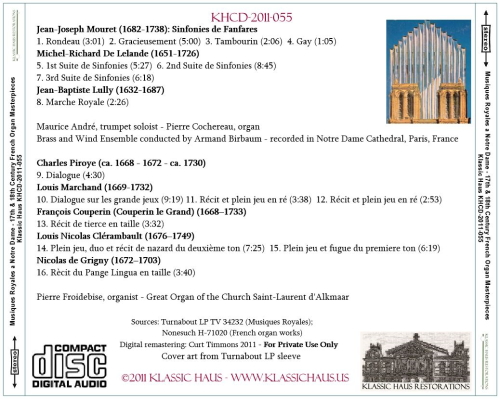 First Additional product image for - Musiques Royales a Notre Dame & 17th and 18th Century French Organ Masterpieces