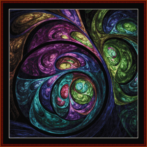 Fractal 670 cross stitch pattern by Cross Stitch Collectibles   Crafting   Cross-Stitch   Wall Hangings