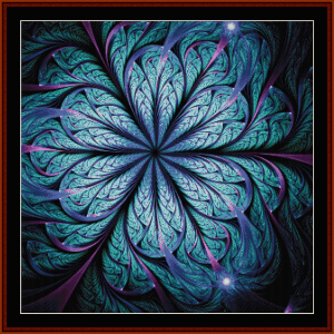 Fractal 671 cross stitch pattern by Cross Stitch Collectibles | Crafting | Cross-Stitch | Wall Hangings