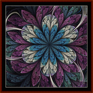 Fractal 674 cross stitch pattern by Cross Stitch Collectibles | Crafting | Cross-Stitch | Wall Hangings