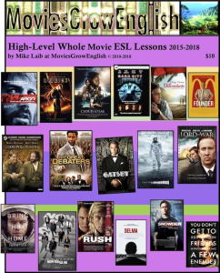 moviesgrowenglish, high level esl texbook 2018