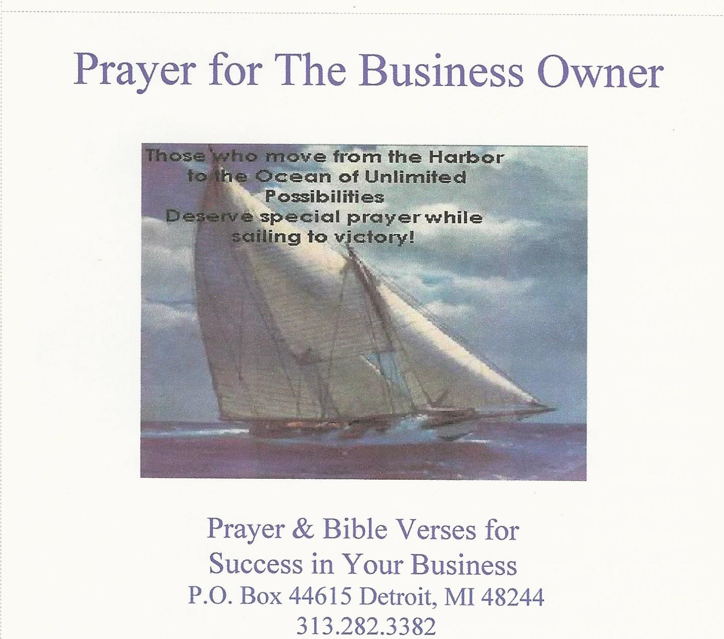 First Additional product image for - Business Owner Prayer