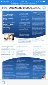 vaccine brochure for infants and children