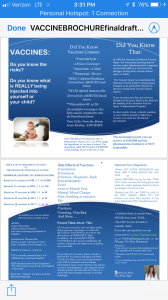 vaccine brochure for infants and children