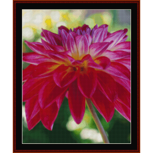 floral custom cross stitch pattern by cross stitch collectibles