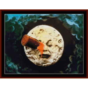 moon custom cross stitch pattern by cross stitch collectibles