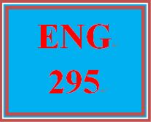 ENG 295 Week 1 Once | eBooks | Education
