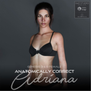 anatomically correct: adriana for genesis 3 and genesis 8 female