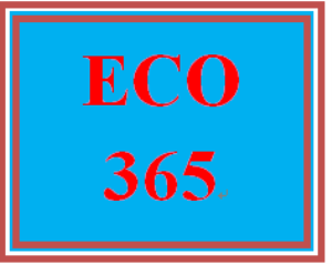 ECO 365 Week 1 Worksheet | eBooks | Education