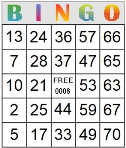 Bingo Card 8 | Photos and Images | Entertainment
