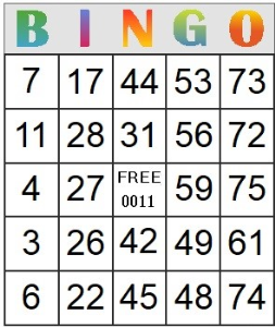 Bingo Card 11 | Photos and Images | Entertainment
