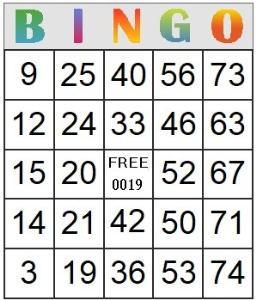 Bingo Card 19 | Photos and Images | Entertainment