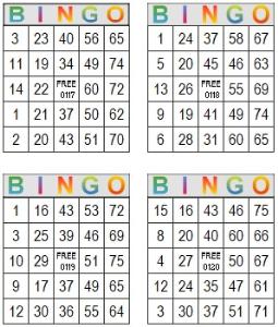 bingo multi card 117-120