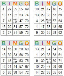 Bingo Multi Card 185-188 | Photos and Images | Entertainment