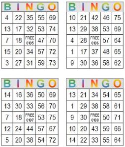 bingo multi card 185-188