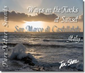 Mediterranean Waves on Rocks at San Marco di Castellabate Italy at Sunset 60 minutes | Music | Soundbanks