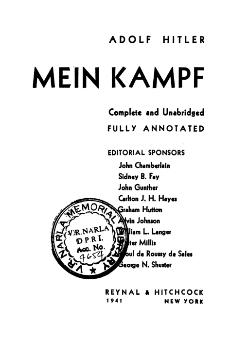 First Additional product image for - Mein Kampf