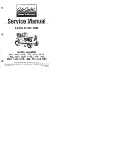 Cub Cadet service manual 805 - 1720 | Documents and Forms | Manuals
