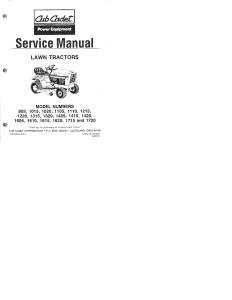 cub cadet service manual 805 - 1720