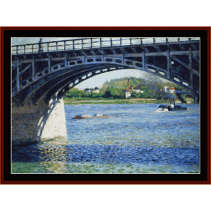 Pont d'Argenteuil - Caillebotte cross stitch pattern by Cross Stitch Collectibles | Crafting | Cross-Stitch | Wall Hangings