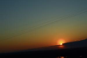 a description of the sunset