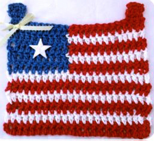 patriotic window flag pattern
