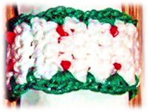holly berry napkin ring pattern