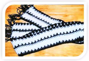 stripe fringe scarf pattern