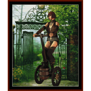 steampunk vehicle - fantasy cross stitch pattern by cross stitch collectibles