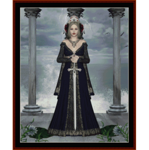 legend - fantasy cross stitch pattern by cross stitch collectibles