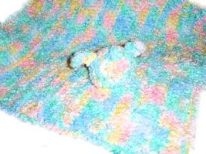 bunny cloud preemie blanket
