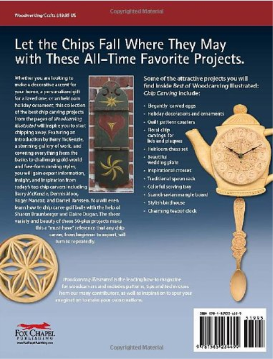 First Additional product image for - Chip Carving (Best of WCI): Expert Techniques and 50 All-Time Favorite Projects (The Best of Woodcarving Illustrated)