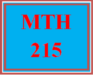 MTH 215 Week 1 What are your hopes for this course? What do you want to learn? | eBooks | Education