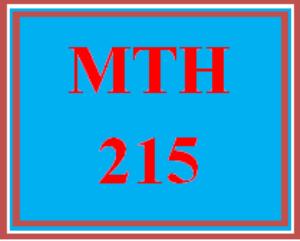 MTH 215 Week 5 summary | eBooks | Education