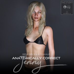 Anatomically Correct: Jenny for Genesis 3 and Genesis 8 Female | Software | Design