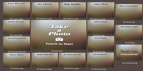 First Additional product image for - Horizontal Backgrounds: Chrome Design