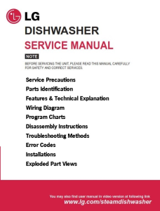 LG LDF6810 LDF7810 LDF7811 LDS5811 LDF8812 Dishwaser Service Manual | eBooks | Technical