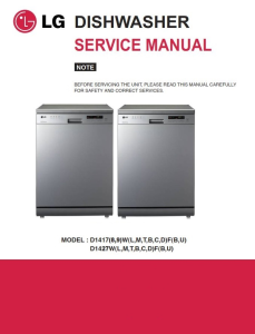 lg d1419lf dishwasher service manual and troubleshooting guide