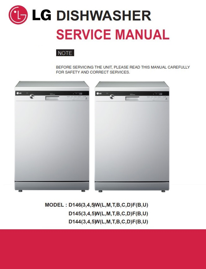 LG D1453WF Dishwasher Service Manual and Troubleshooting Guide | eBooks | Technical