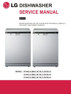 lg d1453wf dishwasher service manual and troubleshooting guide