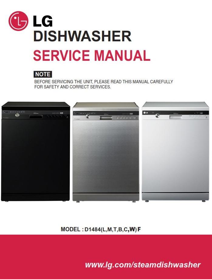 LG D1484WF D1484CF D1484BF Dishwasher Service Manual | eBooks | Technical