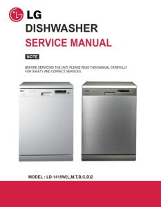 LG LD 1419M2 Dishwasher Service Manual and Troubleshooting Guide | eBooks | Technical