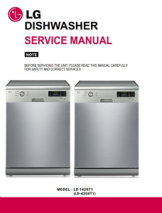 LG LD 1420T1 Dishwasher Service Manual and Troubleshooting Guide | eBooks | Technical