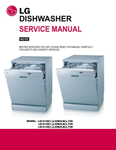 LG LD 2131SH Dishwasher Service Manual and Troubleshooting Guide | eBooks | Technical